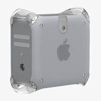 power macintosh g4 quicksilver 3d model
