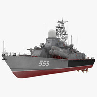 Missile Corvette of the Soviet Navy Nanuchka class Project 1234