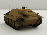 3d model german jagdpanzer 38 hetzer