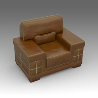 3ds max leather armchair