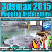 Video Corso 3ds max 2015 Mapping Architettura vol.33 Subscription 3 Mesi