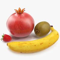 fruits set kiwi 3d c4d