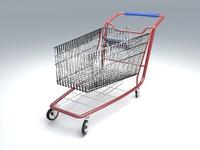 free shop cart 3d model