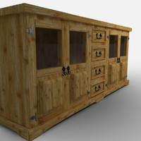 guadalajara sideboard aparador 3d max