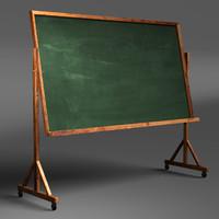 classroom chalkboard 3d model