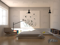 3ds max bedroom scene