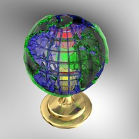 3d world earth global light