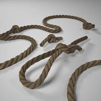 rope knots 3d max