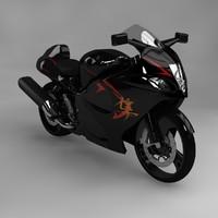suzuki gsx 3d model