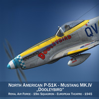 north american mustang mk iv 3d model