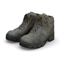 3ds max hiking boots
