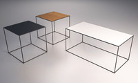 stylish table 3d max