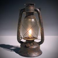 3d lantern flame