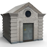 3d model old electrical substation