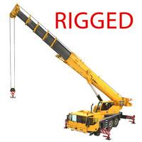 mobile crane truck rigged