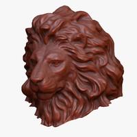 lion cnc 3d model