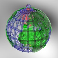 3d world earth global lantern model