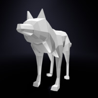 Wolf low poly basemesh