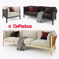 3d model depadova yak sofa padova