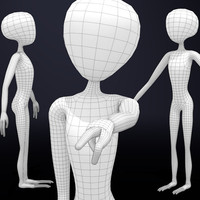 3d model alien basemesh base