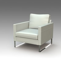 3d model of armchair ikea