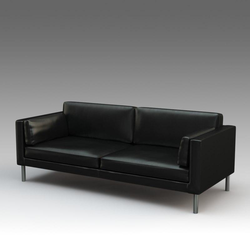 3d Model Leather Sofa Ikea