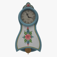 maya painted wall clock