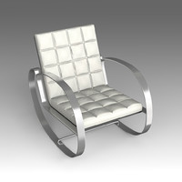 leather armchair 3d model