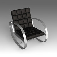 3d leather armchair model