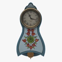 painted wall clock 3d max