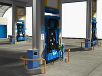 3dsmax gas station