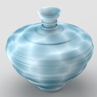 decorative spotted vase cold 3d x