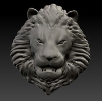 obj lion head