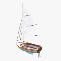 3d model sailboat sail boat
