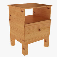 3d tarva bedside table