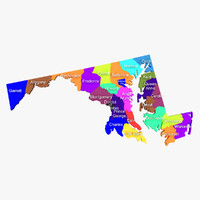 3d maryland counties