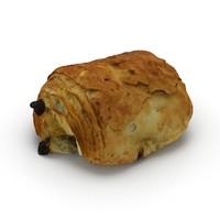 pain au chocolat 3d model
