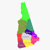3d model new hampshire counties