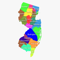 new jersey counties 3d model