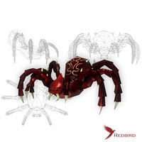 hand painted spider 3d 3ds