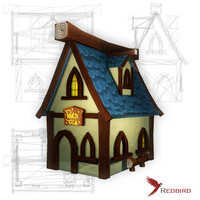 3dsmax hand painted house