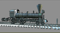 locomotive 3d model