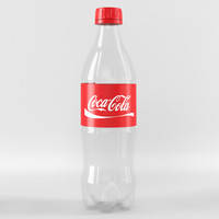 3d 0 plastic coca-cola bottle model