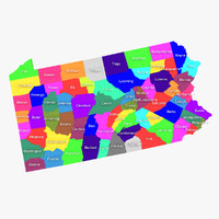 3d model pennsylvania counties