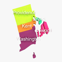 rhode island counties 3d model