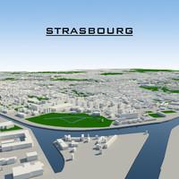strasbourg cityscape 3d dwg