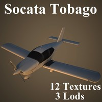 socata tobago low-poly 3d model