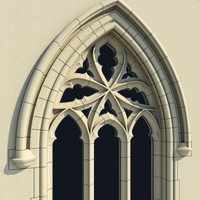 small arched gothic window 3ds
