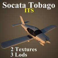 3d socata tobago low-poly