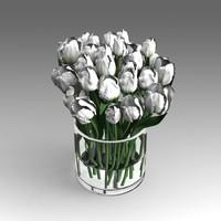 3d roses flowers model